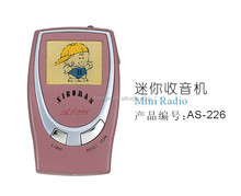 AS - 226 new model cheap fm pocket radio with clock and light