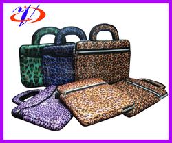 Custom made portable style leopard image neoprene laptop sleeve