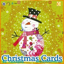 Wholesale Customizable Paper Crafts Marry Christmas Card with image arts