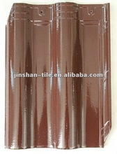 New style full body glazed clay bent ceramic roof tile