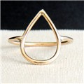 Raindrop Goldfilled Ring  Pearshaped Drop Ring  Geometric style Ring  Gold Ring