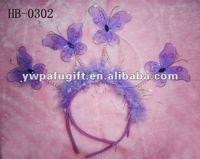 purple butterfly shape Halloween headband