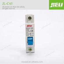 Hot sell DZ47-63-3p C45 low voltage transparent miniature circuit breaker
