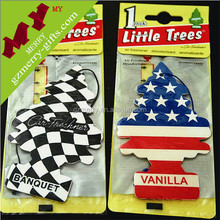 Guangzhou supplier promotional gifts scent air freshener / paper car air freshener