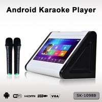 2015 hot sale portable mini Karaoke player with 1080P MKV MPG MP4 AVI