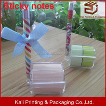 wholesale factory of delicate ball pen with sticky notes high quality