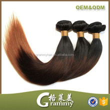 2014 hot fashionable colored two tone bundles ombre hair extension