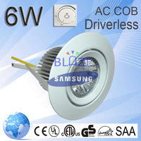 CE ROHS driverless led light downlight nature white