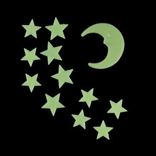 Luminous stars the moon patch fluorescent light 3d wall stickers