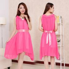 Manufacture custom border printed chiffon long dress cutout sexy mini club dress women maxi dress