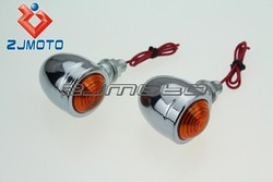 ZJMOTO ALUMINUM Universal Motorcycle Bulb Turn Signal Light FIT For Choppers Classic Honda Yamaha Kawasaki Suzuki
