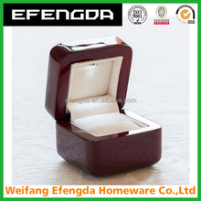 Piano Lacquer Finish Luxury Engagement Ring Wooden Box Gift Box