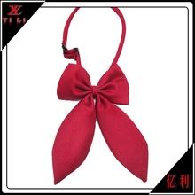 Girls fashion solid school red bowtie