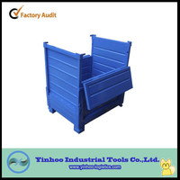 2014 new style half-open high quality heavy duty foldable steel pallet box container