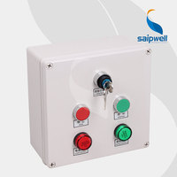 Saip Saipwell 2015 Hot Sale OEM ODM Push Button Switch Control Box Made in China Waterproof Electrical Pushbutton Control Box