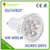 85V-240V 4W GU10 Dimmable Bulb White/Warm White Energy saving COB led spotlight LED Spot Light 4W
