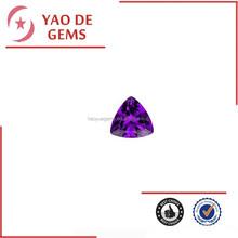 Dark Purple Trillion Cut Cubic Zirconia cz Amethyst Stone Pendants Triangle Stone Wholesale