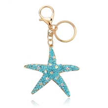 wholesale promotional items china star shaped rhinestone keyring