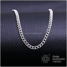 rough link chain necklace rhodium plated