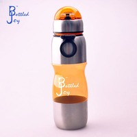 BJ 700ML gym drinking bottle, plastic water bottle with handle and pop up lids