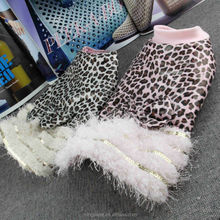 Fashion leopard pattern luxury winter dog dress pets supplies