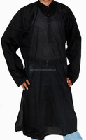 Men's Long Kurtas Muslim Kurta Black Long Kurtas Collection