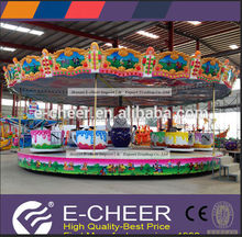 Chinese National Style Rotation Tea Cup Rides