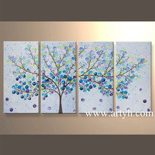 Wholesale Modern Tree Wall Arts And Crafts Handmade Oil Painting