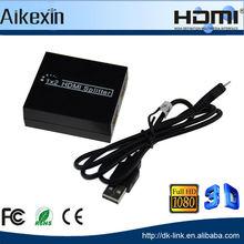 2 Way Hdmi Switch Splitter Box 1x2 Port 1080p Full Hd 1 Input 2 Output Hdmi Splitter