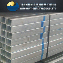building material/hollow tube/fence thin wall Q235 Hot dip zinc coated GI galvanized square rectangular steel pipe