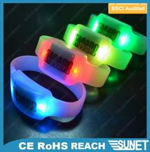 SUNJET best selling item 2016 new products custom color lighting silicone bracelet personalized gift