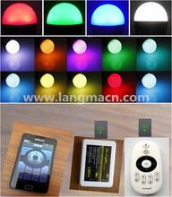 new design RGB dimmable bulb intelligent and smart phone control brightness wifi led light bulb