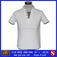 Good Quality V-Neck White Short Sleeve Polo T-shirt