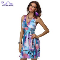 Promotional Different Short Dress Styles Summer Dress for Mature Woman Wholesale Sun Dresses