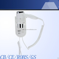 2014 new product top quality bathroom wall mounted hair dryer 67430 shaver socket