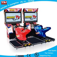 coin operated arcade machine battery kids racing go karts mini electric car motorcycle simulator racing game machine for mall