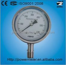 100mm OEM custom guage glycerin filled psi single scale high temperature steam pressure gauge
