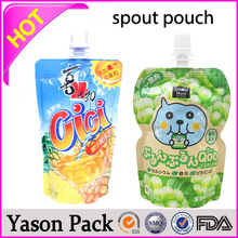 Yason stand up liquid/shampoo/laundry detergent/juice packing spout pouchall kinds of fruit drink and soybean milk spout pouchmy