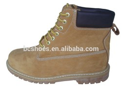 genuine leather work boots/fuzzy ankle boots/Split leather shoes