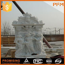 latest best manufactory price well polished beautiful hand carved natural chinese stone white marble statue/sculpture