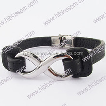 high quality leather jewelry simple infinity bracelet
