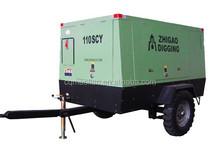 Portable high pressure truck screw air compressor for jack hammer