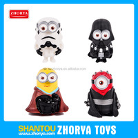 High emulational star war battlefront minions figure 4 models minifigure star war 3.5 inch despicable me 3 star war minions
