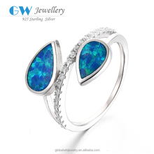 High Quality Suppliers Gallant Fashion Opal Rings Wedding Rings For Women White Opal 925 Sterling Silver Filled