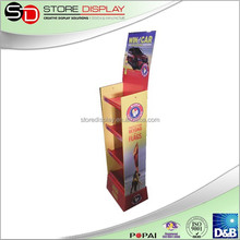 POP Shelf display paper material Corrugated display stand and racks for car care product