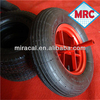 supper friction rubber mining cart coaster wheels 4.00-8