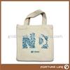 2014 promosi Custom Cotton tas Grosir Murah, polos tas katun dengan sablon logo