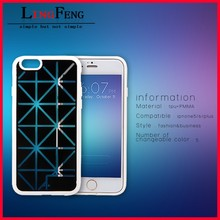 China supplier wholesale tpu pmma hard case for iphone 6 iphone 6 plus with 5 color changeable back cover