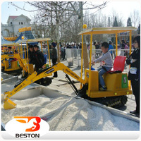 Attractive! kids ride on toy excavator for amusement park