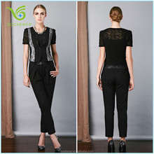 Ladies black tops and blouses 2015 hot sale